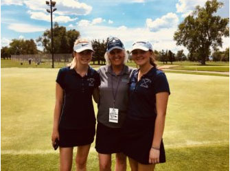 Anna Sophia Williams and Taylor Cave Compete in Golf State Tournament